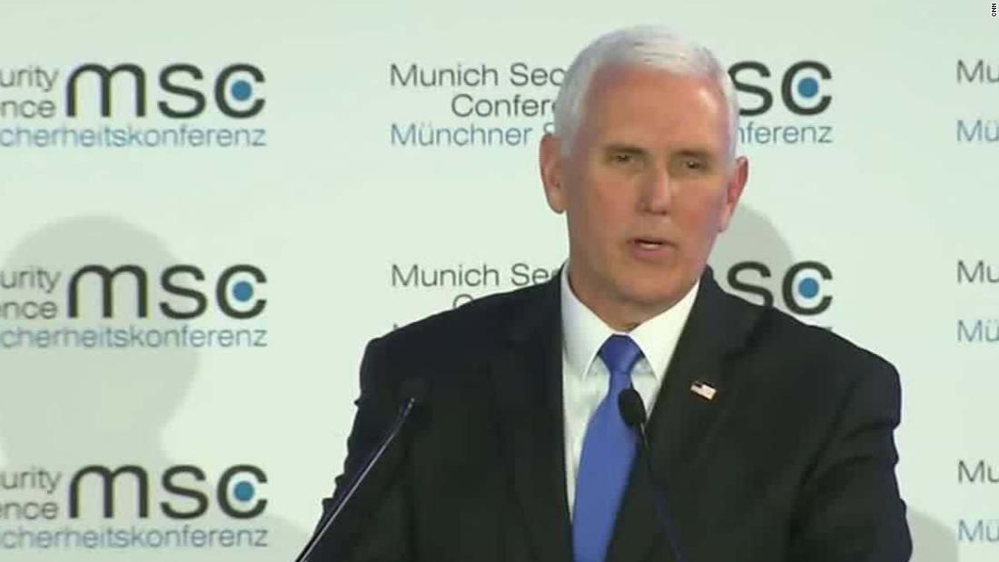 Mike Pence Anticipated Applause When He Mentioned Trump in Munich. He Got Peace.