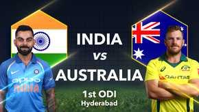 India vs Australia 1st ODI Live Streaming, Live Score: When and Where to Watch 1st ODI Online Live TV