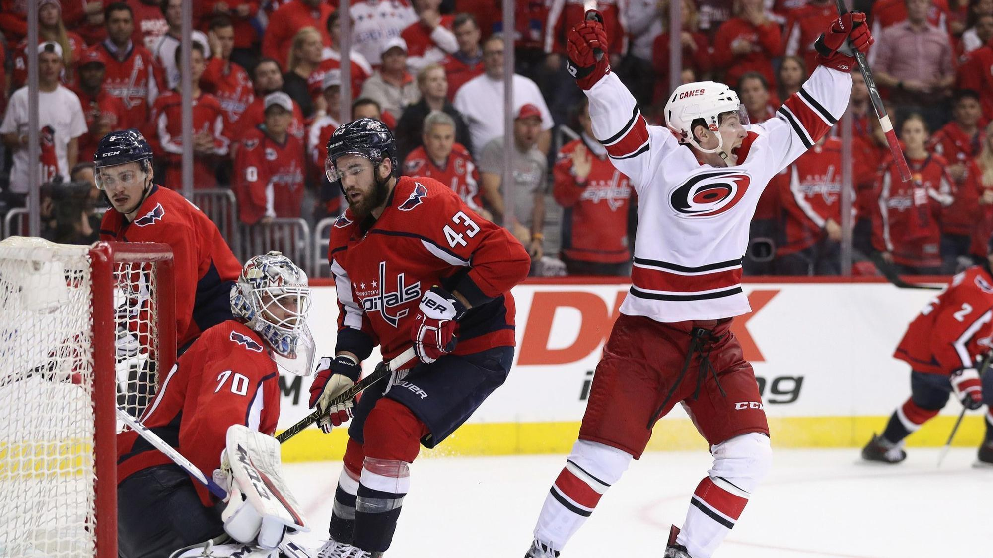 NHL playoffs: Hurricanes daze Capitals in double overtime in Game 7