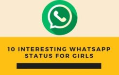 10 interesting whatsapp status for girls
