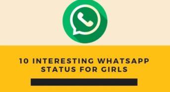 10 interesting whatsapp status for girls