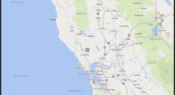 Magnitude 3.3 earthquake strikes near Calistoga, CA, Sonoma and Napa counties