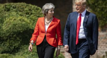 Donald Trump says he feels 'badly' for Theresa May following her resignation