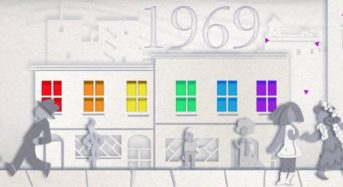 Pride Google Doodle celebrating 50 year of LGBTQ+ History and Identity