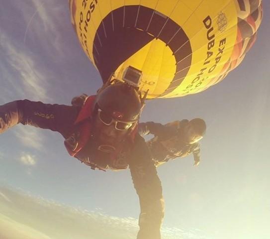 Skydiver new record from Khalifa Alghafri an Emirate adventurer