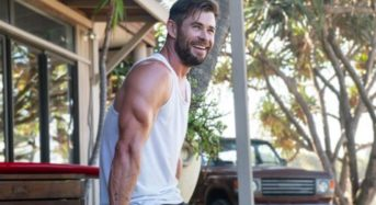 The physique of Chris Hemsworth