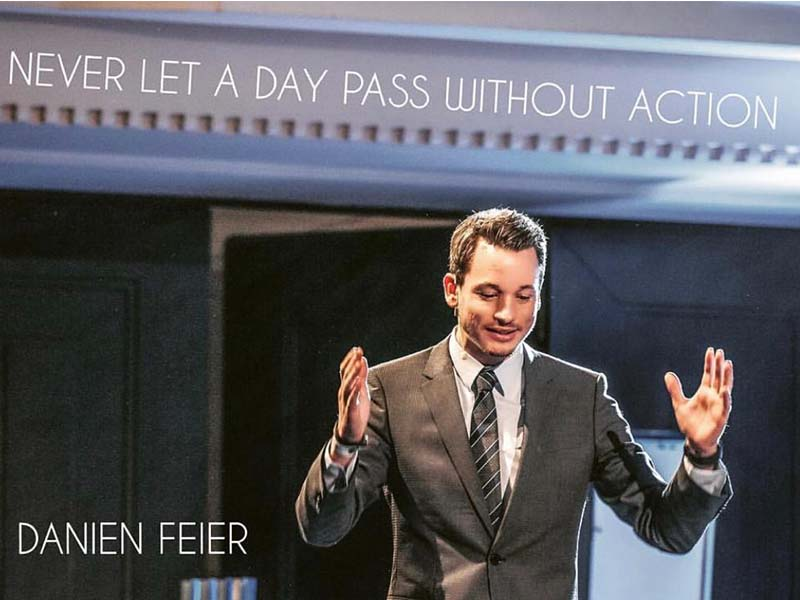 Danien Feier is an exceptional motivational speaker, Changing fortunes for the people who are in trouble
