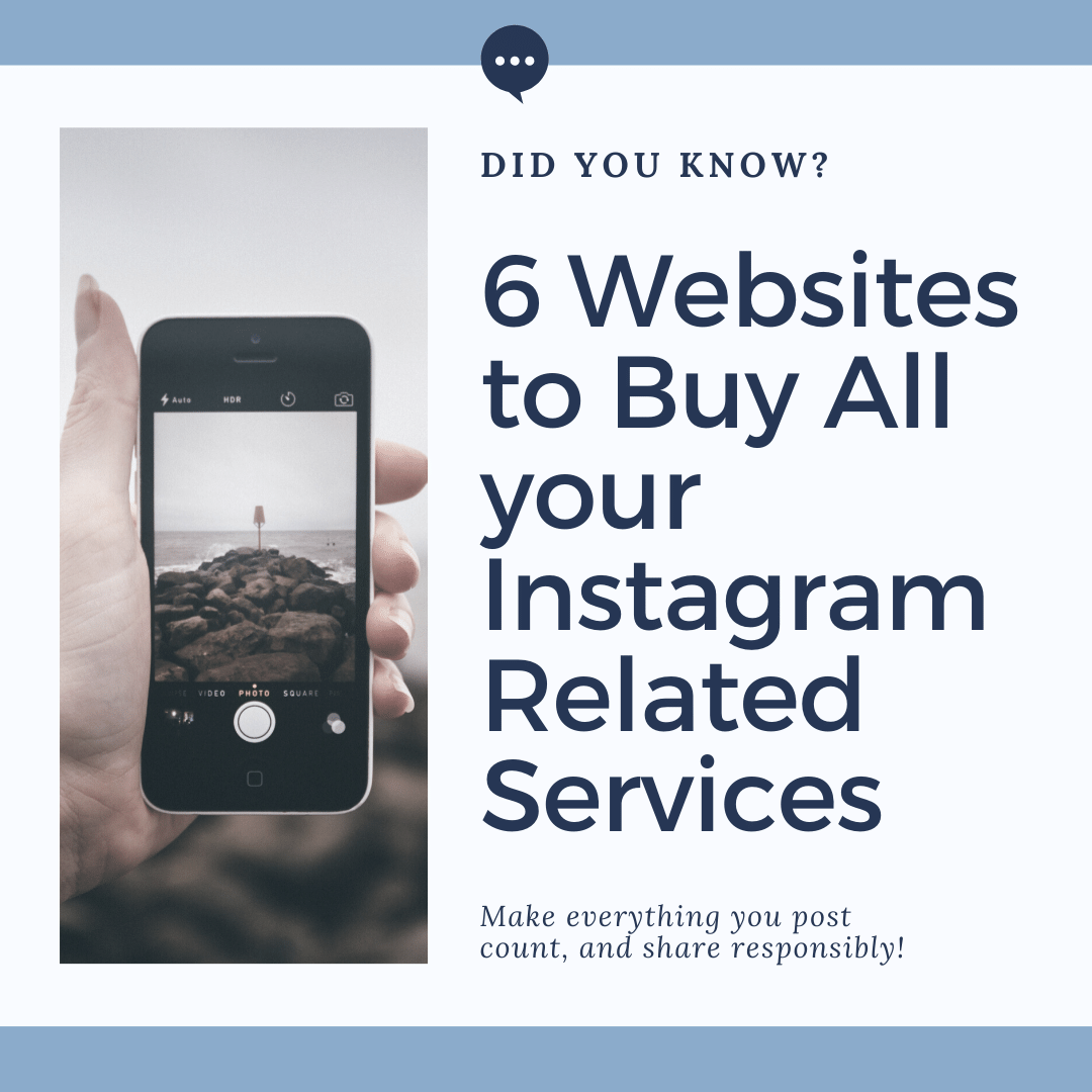 6 Websites to Buy All your Instagram Related Services
