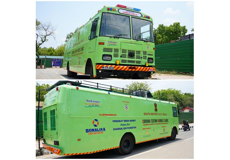 Sonalika Tractors Collaborates with Growdiesel to support Delhi Government to fight COVID 19, Converts CRPF bus into a Corona Testing Mobile Clinic