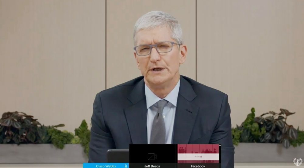 Apple CEO Tim Cook addressed over App Store's evacuation of adversary screen time applications in antitrust hearing