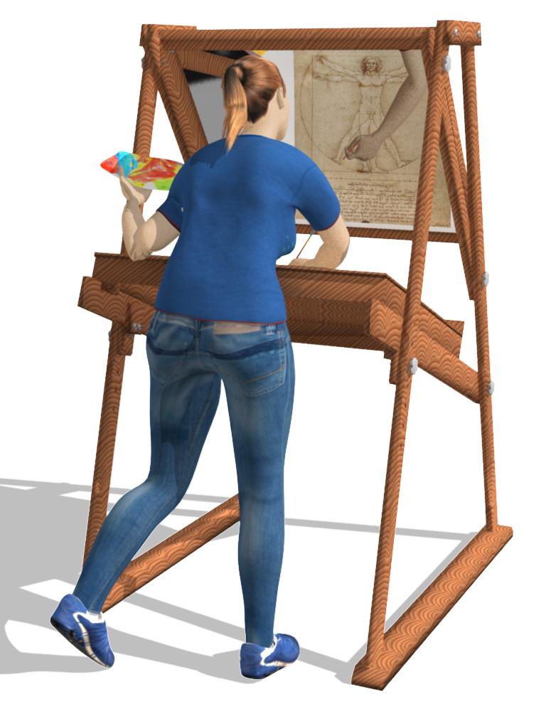 Da Vinci's Easel: Leonardo Da Vinci's Essential Painting Tool