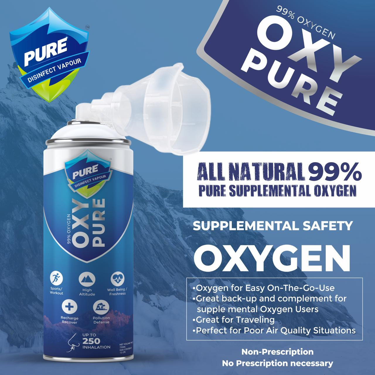 Oxy Pure: Portable oxygen canister by Manhar Vij and Gaurav Chaudhary for high altitudes, professional and amateur athletes and senior citizens.