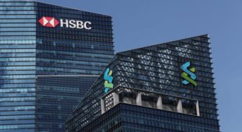 HSBC and StanChart shares fall down after reports show they moved dubious assets; Asia-Pacific business sectors lower