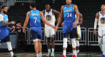 Khris Middleton scores 31 as Milwaukee Bucks beat Golden State Warriors 138-99