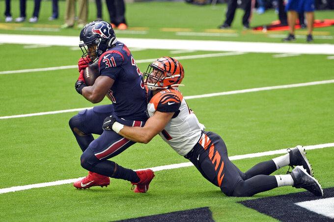 Cincinnati Bengals vs. Houston Texans : Bengals defeat Texans 37-31 for first road win since 2018